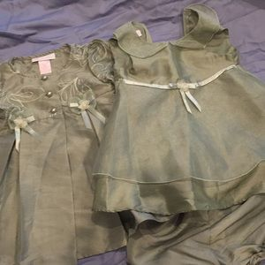Other - 3pc baby dress bloomer and coat set sz 12months
